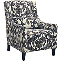 Ashley Furniture Signature Design - Owensbe Accents Side Chair - Contemporary Style Accent Chair - Charcoal