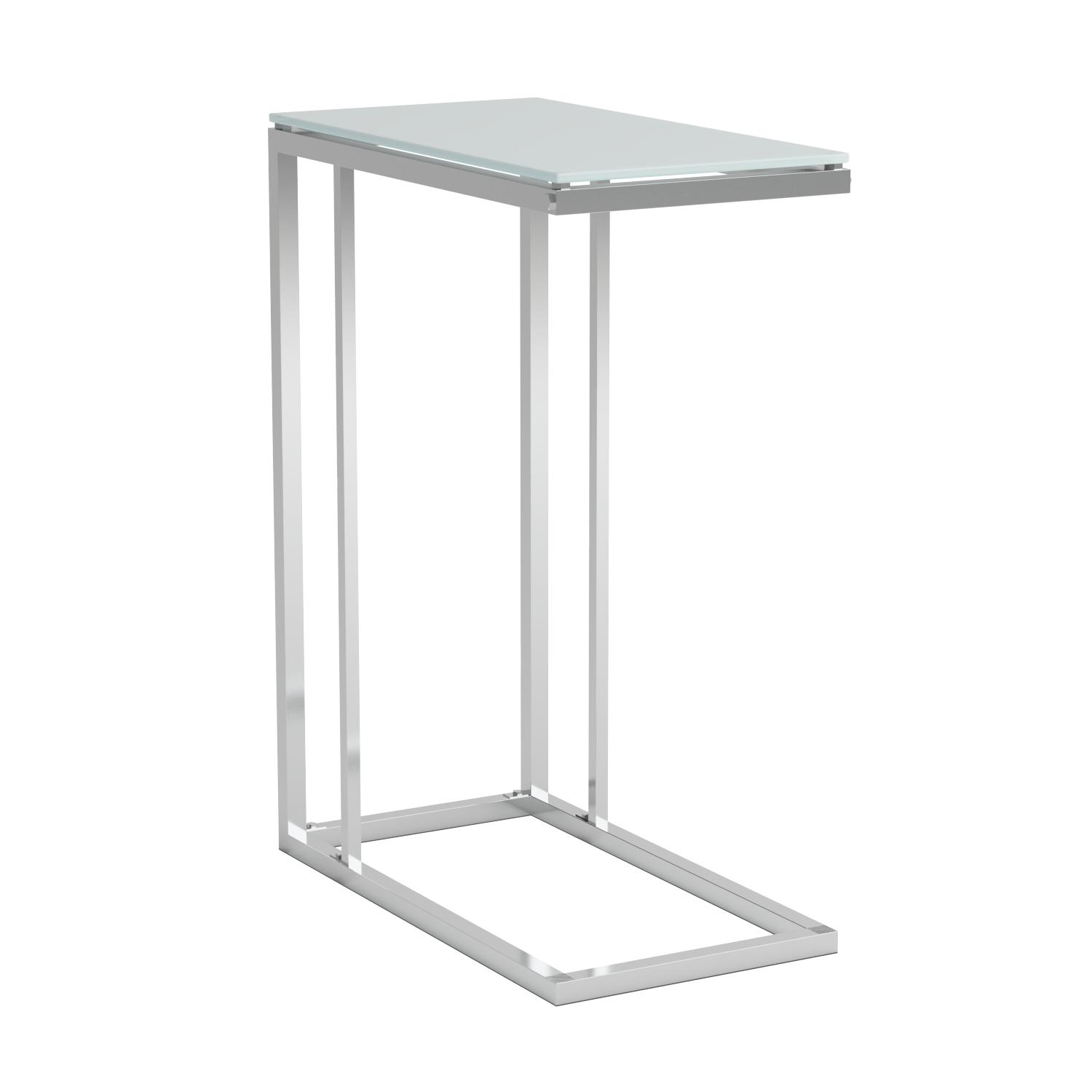 Amazon Coaster Contemporary Snack Table with Glass Top