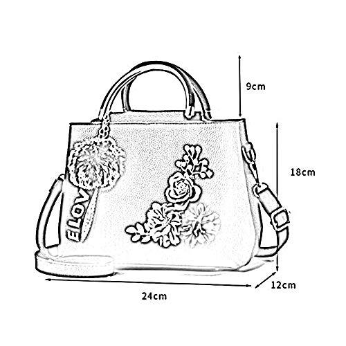 Mlle PU Sac Sac Main Messenger Brodé Bag CM à à ANLEI Mode 18 MS8859 12 Couleurs 24 bandoulière 7 04 wpIqdnX
