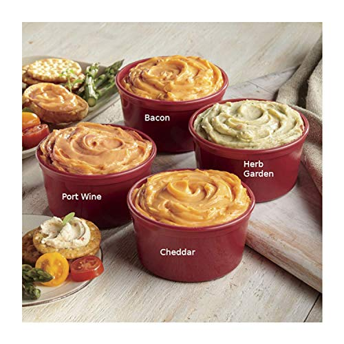 Cheddar, Bacon, Port Wine & Herb Garden Tasty Four Cheese Spread Gift Box from Wisconsin Cheeseman ()