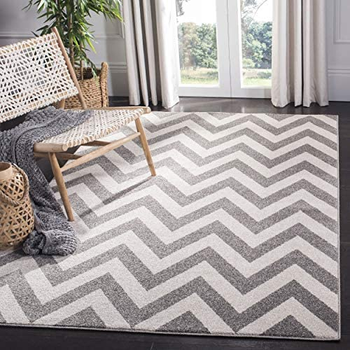 Safavieh Amherst Collection AMT419R Dark Grey and Beige Area Rug