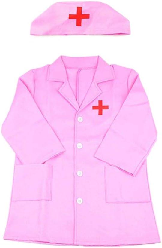 Egosy - Bata de médico para niños, Bata de Laboratorio, Juego de Accesorios para niñas, Juguete de rol, Disfraz de Halloween
