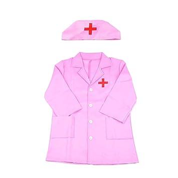 Egosy - Bata de médico para niños, Bata de Laboratorio, Juego de Accesorios para niñas, Juguete de rol, Disfraz de Halloween: Amazon.es: Hogar