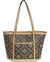 Magid Paper Straw Tribal Tote