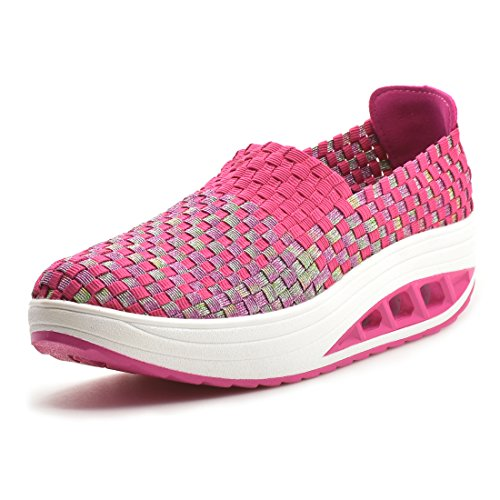 Women fashion breathable woven sneakers sport and casual shoes - 5