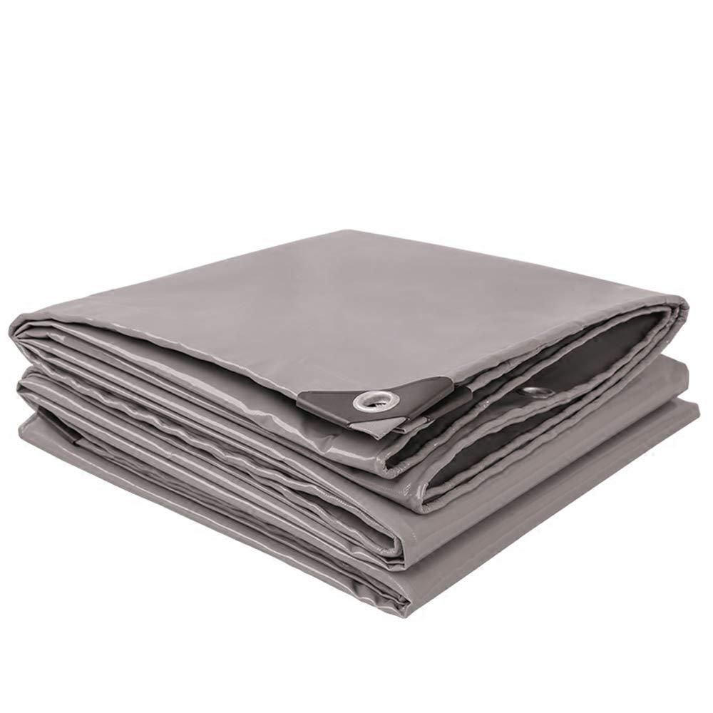 YANGFEI 防水シート 耐久性の高いターポリン、高密度編みポリエチレン、ダブルラミネート180g /m²、ブルー100%防水、UV保護520g /m²-0.45mm 耐久性に優れています 4x 4m Gray B07GXXD7MD