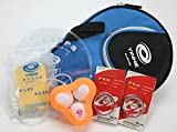 Table Tennis Accessory Starter Pack - Bag, Protector Sheets, Sponge, Ball Holder, Balls, Edge Tape (Assorted Colors)