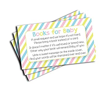 Baby Shower Book Insert Request Cards 50