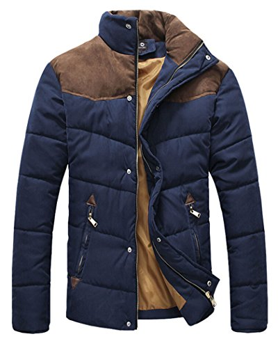 ECHOINE-Mens-Stand-Collar-Colorblock-Puffer-Coat