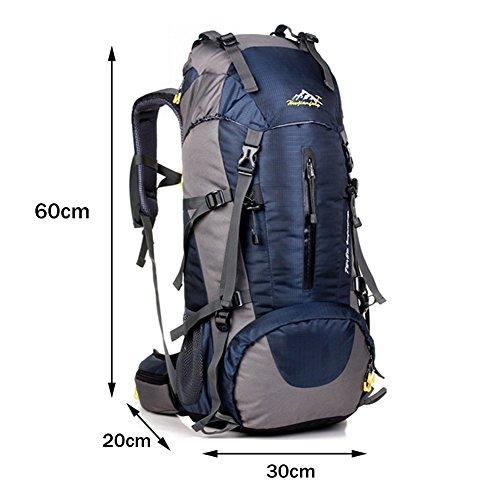 Wanderrucksack,YOUGO 45L + 5L Erwachsene Männer Frau Wanderrucksack Backpack Rucksack Trekking Reiserucksack Trekkingrucksack mit einer Regenabdeckung Outdoor Hiking Camping Knapsack Schultertaschen B