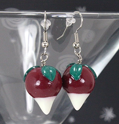 Luna Radish Earrings / Dirigible Plum Earrings - Glow In The - Earrings Radish Luna