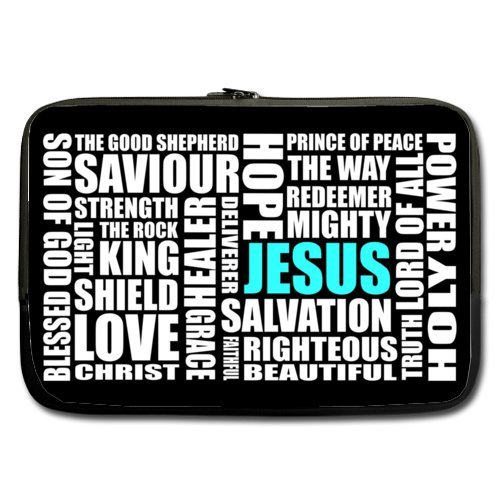 WECE Jesus Christ Christian Quotes 13 Inch Laptop/Notebook Computer Sleeve Bag Case (two sides) for Macbook, Macbook Air/Pro 13
