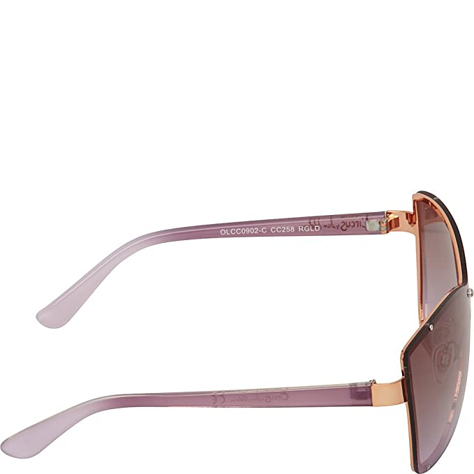aee9cb31f2 Circus by Sam Edelman Sunglasses Backframe Shield Sunglasses (Gold)   Amazon.ca  Clothing   Accessories