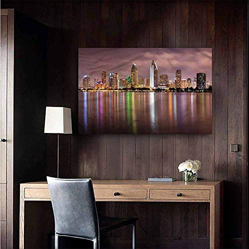 Wall Mural Wallpaper Stickers USA San Diego Riverside Panorama Hall Fashion Size : W48 x H32