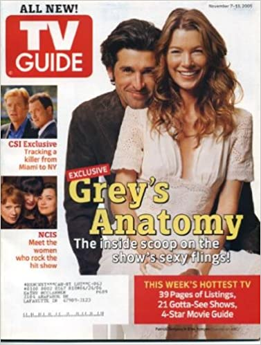 Tv Guide November 7 2005 Patrick Dempsey Ellen Pompeogreys
