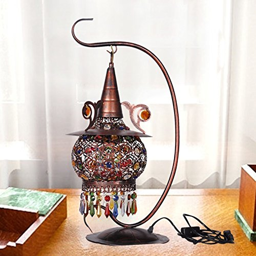 Super PP European-style table lamp retro bedroom bedside Mediterranean lamp warm bohemian lamps LO118313PY