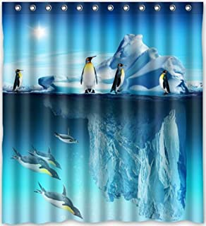 Curtains Ideas bird shower curtain hooks : Amazon.com: 12 Piece Arctic Penguins Resin Shower Curtain Hooks ...