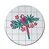 Aoruisier 1pcs Ins Diatom Mud Absorbent Coaster Environmental Plant Waterproof Round Birds Absorbent Pad