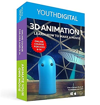 3D Animation 1 – Kids Ages 8-14 Learn To Animate Their Own Movie (PC & Mac)