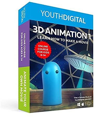 amazon com youth digital 3d animation self paced online 3d