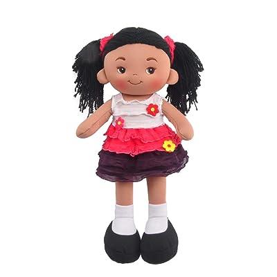 "Linzy Plush 16"" Pink Aissa Doll Soft Rag Doll: Toys & Games"
