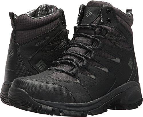 Omni Black Leather - Columbia Men's Gunnison Omni-Heat Hiking Shoe, Shark, Charcoal, 11 D US