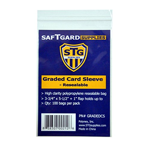 GRADED CARD RESEALABLE SLEEVES / BAGS (100 pack)