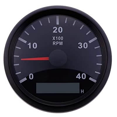 ELING Waterproof Tachometer REV Counter RPM Gauge with Hour Meter 0-4000RPM 85mm 9-32V with Backlight: Automotive [5Bkhe0815834]