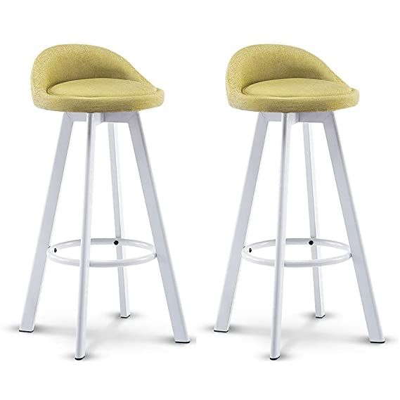 Amazon.com: A-Fort White Box bar Chair Metal bar Stool ...