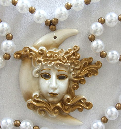 Crescent Moon Goddess Mardi Gras Bourbon Street Mardi Gras Beads New Orleans Bayou Lousianna Cajun Creole Party ()