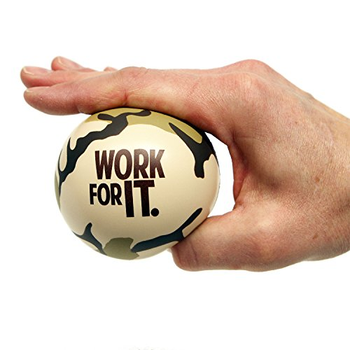 Motivational Stress Balls, 3 Pack, Teacher Peach Stress Relief Gifts (Orange Camo)