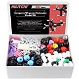 Hilitchi 307Pcs Chemistry Molecular Model Kit Organic and Inorganic for Student, Study Aid Molecular Model Set (126 Atoms & 30 Orbitals & 150 Links & Short Link Remover Tool)