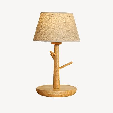XiuXiu Lámpara de mesa de Madera Creativa Lámpara de Noche ...