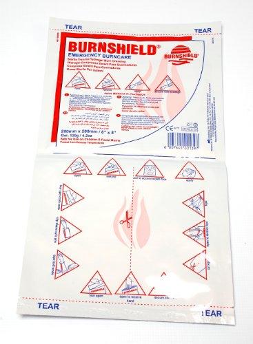 Burnshield Sterile Emergency Burn Dressing, 8 Inch x 8 (Burnaid Burn Gel)
