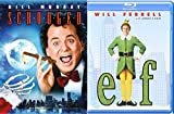 A Christmas Bah Humbug Elf Double Feature Movie & Bill Murray Scrooged Holiday Will Ferrell Comedy 2-Pack