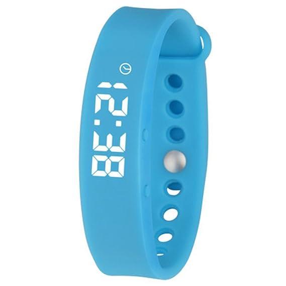Elegante reloj digital, 3d podómetro Monitor sueño Deportes Smart fitness banda y actividad tracker reloj smart watch de-A: Amazon.es: Relojes