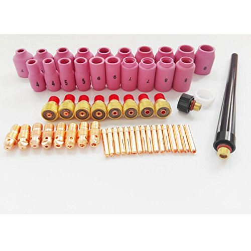 B.W.P 55PCS Setup Consumables Kit For WP-9 WP-20 WP-25 Series TIG Welding Torch 13N 53N Nozzles