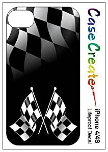 Checkered Flags Racing Decorative Sticker Decal for your iPhone 5 5S Lifeproof Case
