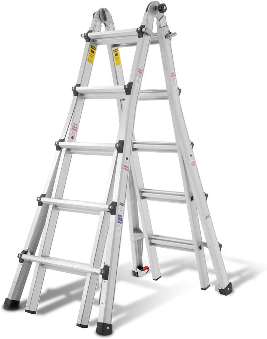 ORIENTOOLS Aluminum 22-Foot Multi-position Ladder