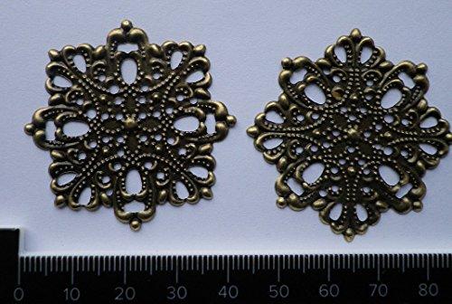 Celtic Woods 4 X Antique Filigree Centres 45Mm Diameter Jewelery Wooden Box Embellishment Aged C039