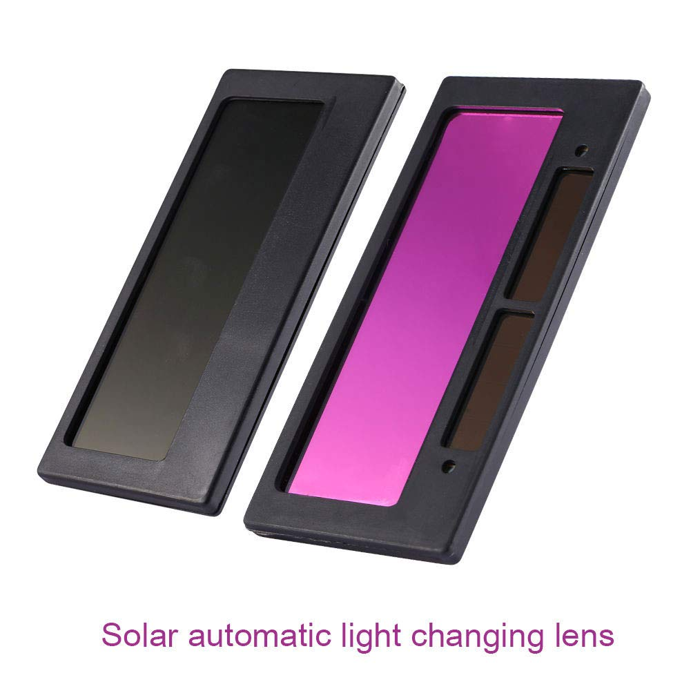 Solar Energy Auto Darkening Lens for Welding Helmet//Welder Cap//Mask,Mask Lens Automation Filter Shade Eyes Lens