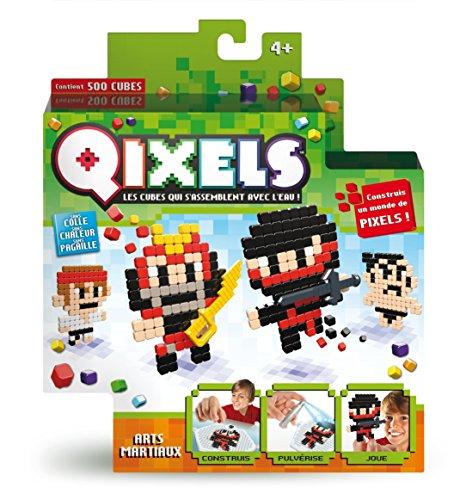 Kanaï Kids - KK87005 - Mini Kit de 4 Créations Qixels - Thème Art Martial - Multicolore