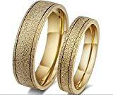 The New Titanium Steel Plated 18k Gold Wedding Rings Engagement Rings Couple Jewelry Wholesale Cr-010 (10, men)