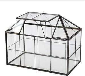 Black House Shape Display Box Planter for Succulents Plants Home Tabletop Decor()