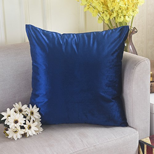 Home Brilliant Velvet Large Throw Pillow Cover Cushion Cover Europe Sham for Floor/ Outdoor/ Patio, 26