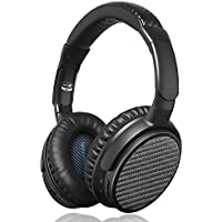 Active Noise Cancelling Bluetooth Headphones, iDeaUSA Wireless Over Ear Headphones with Microphone apt-X HiFi Stereo Sound Headphones for TV, Airplane, Sports, 25 Hours Playback - Black