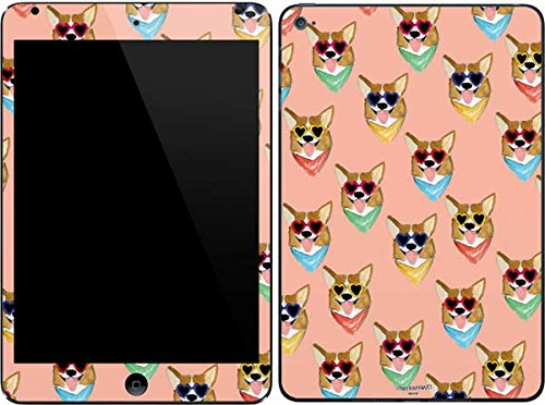 (Skinit Corgi Love iPad Mini 4 Skin - Officially Licensed Bouffants and Broken Hearts Tablet Decal - Ultra Thin, Lightweight Vinyl Decal Protection)
