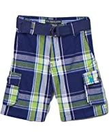 U.S.Polo Little Boys Poplin Plaid Cargo Shorts