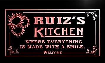 Amazon.com: ps1184-r Ruiz Cartel de Bienvenida Cocina Bar ...