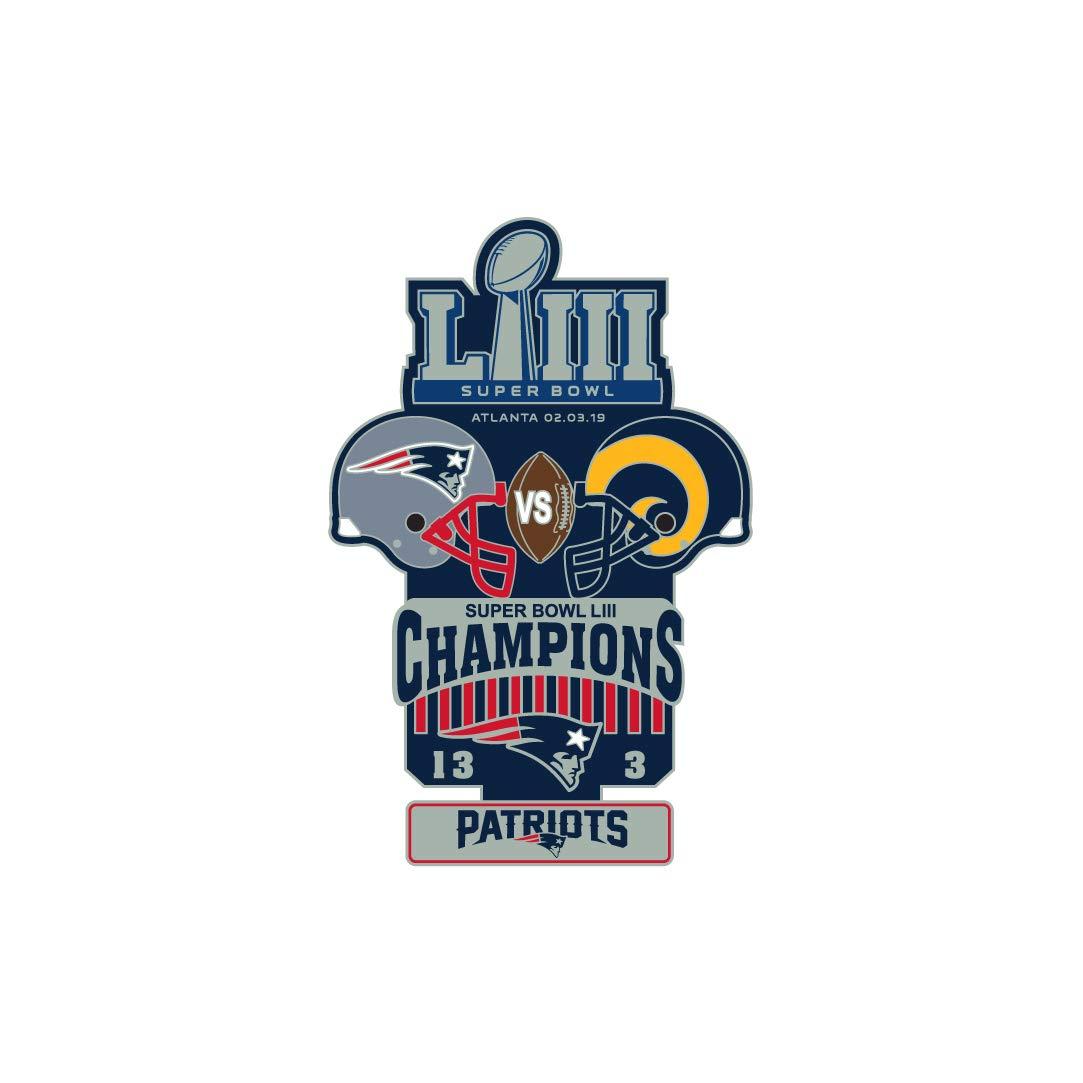 Pro Specialties Group Super Bowl LIII 53 Commemorative Lapel Pin - New England Patriots
